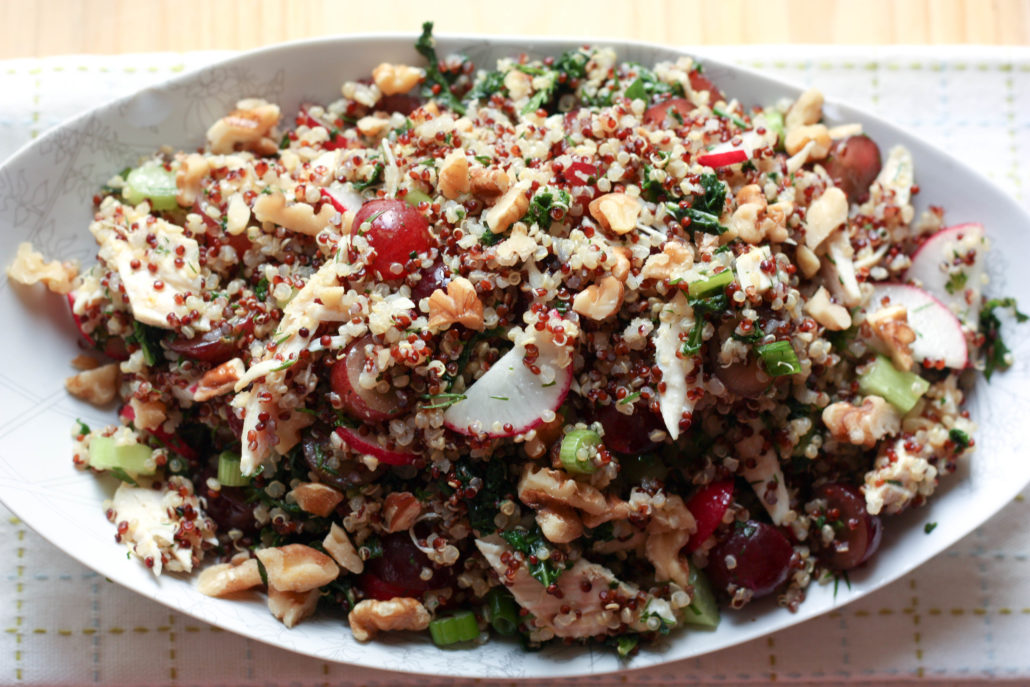 quinoa salad with radish