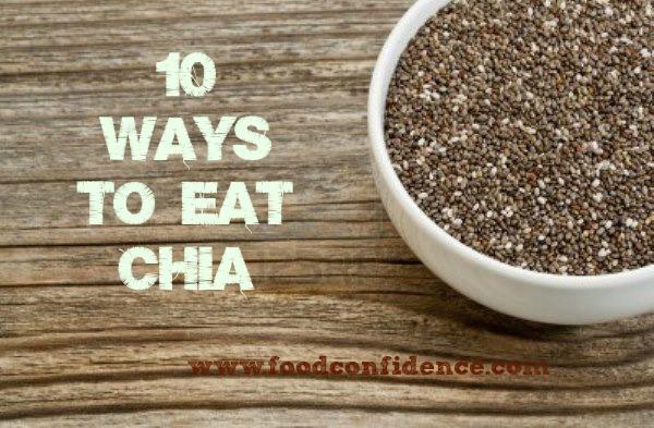 chia seed 10 ways