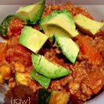 raw veggie walnut chili