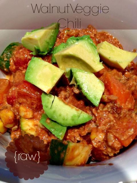 raw veggie walnut chili