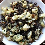 black bean pasta with olives and cauliflower -- gluten free, high in protein and fiber