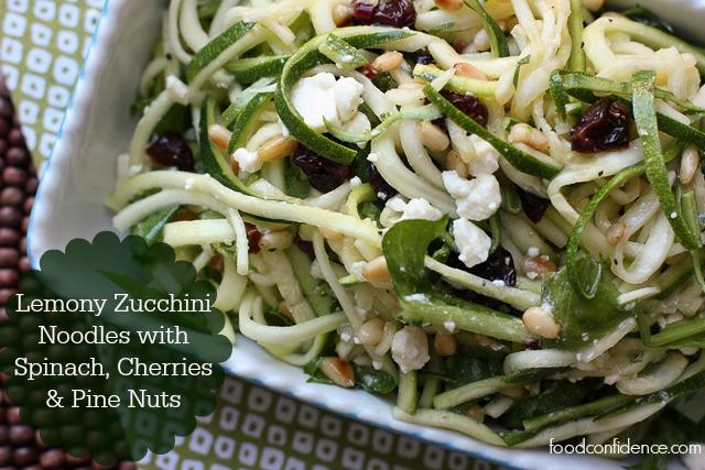 lemony zucchini noodles