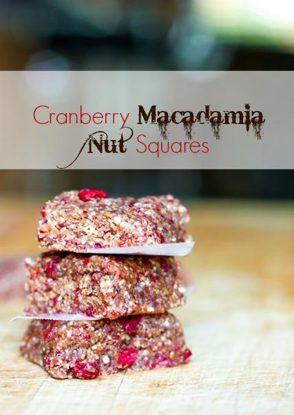 Cranberry Macadamia Nut Energy Bars