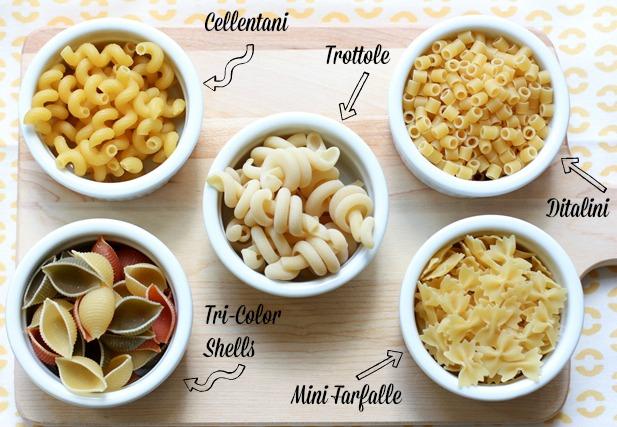 various pasta types
