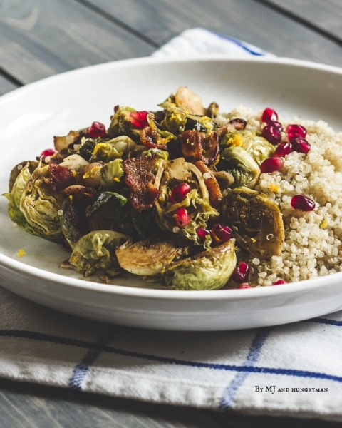 Brussels Sprouts with Pomegranate