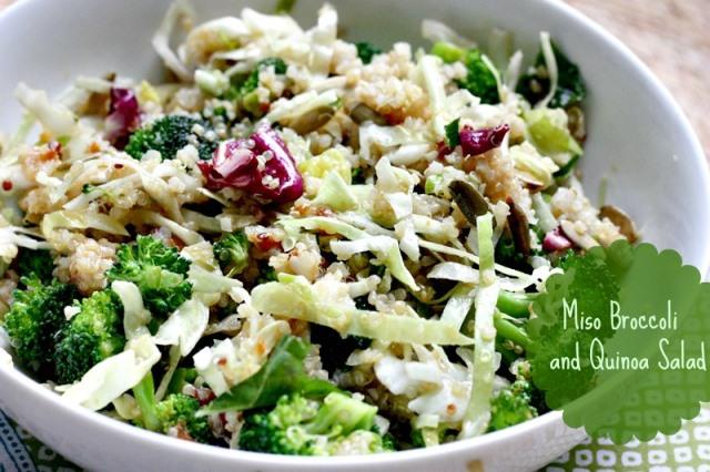 miso broccoli quinoa salad