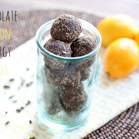 Chocolate energy lemon balls are my favorite snack! via @danielleomar