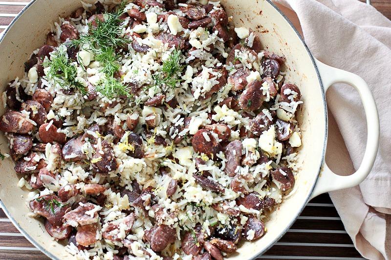 Christmas Lima Bean and Basmati Rice Saute