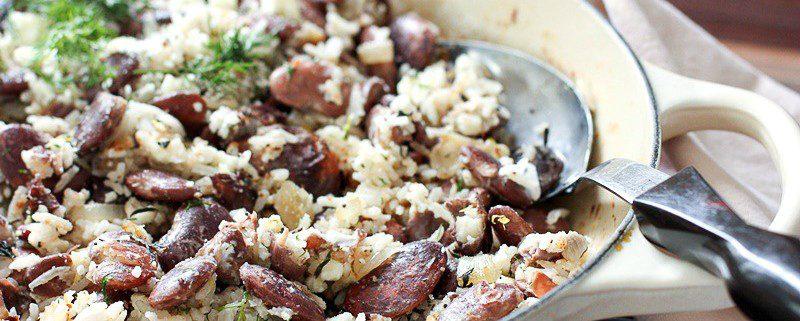 Lima Bean Saute with Basmati Rice