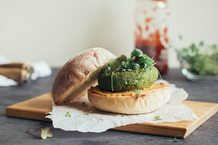 http://food52.com/recipes/27968-spinach-mung-bean-and-millet-burgers