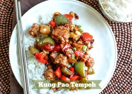 Kung Pao Tempeh -- awesome veggie dinner when you're craving Chinese food!