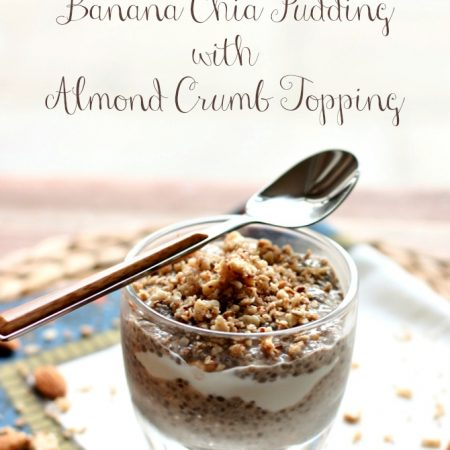 Banana Chia Pudding + Almond Crumb Topping -- perfect #snack or #breakfast pudding!