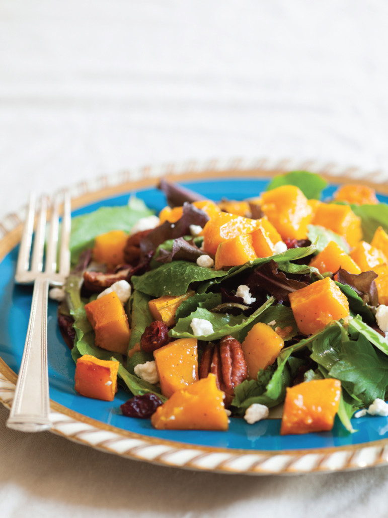roasted butternut squash and cranberry salad Credit Jason Houston