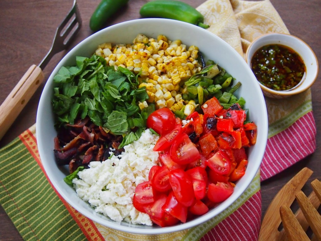 grilled corn buddha bowl