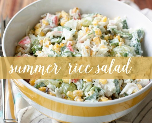 Easy to make and delicious to eat this rice salad is the perfect summertime meal! Light, refreshing and super versatile! #salad #cleaneating @danielleomar