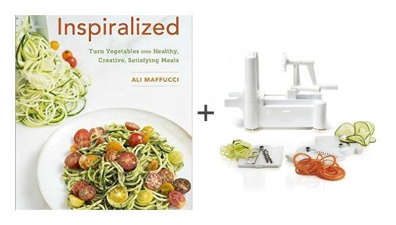 cookbook and spiralizer