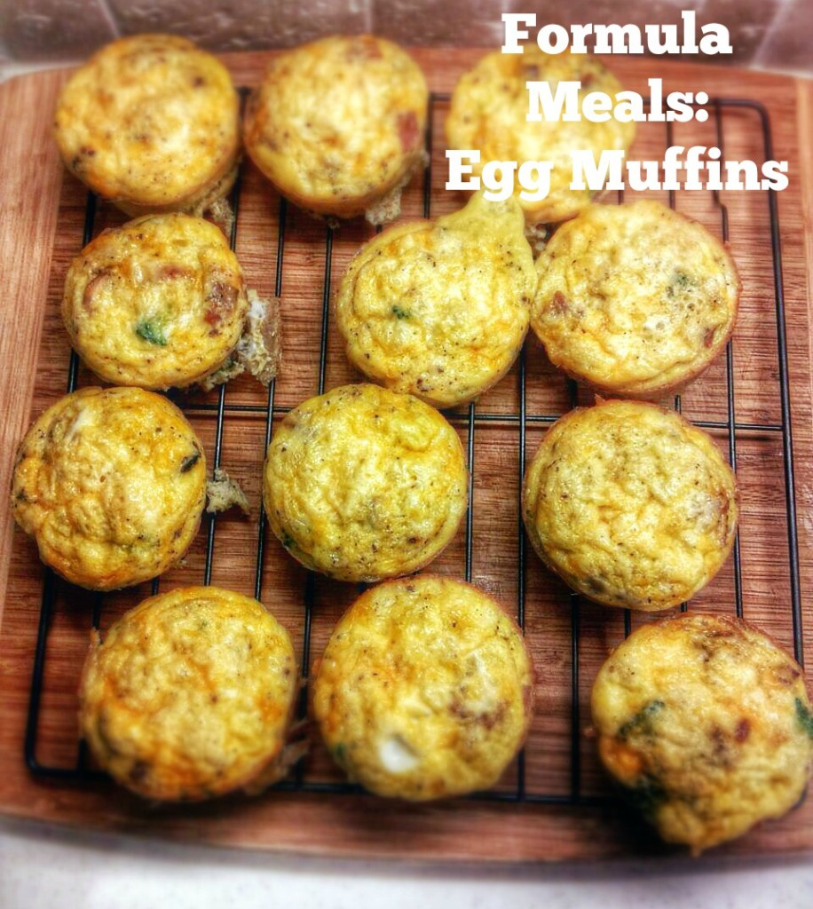 Formula meals are quick and easy ways to throw a meal together! Try these breakfast egg muffins!