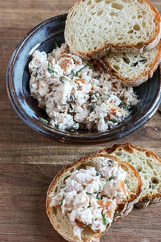 This smoked trout dip is creamy, tangy and delicious.