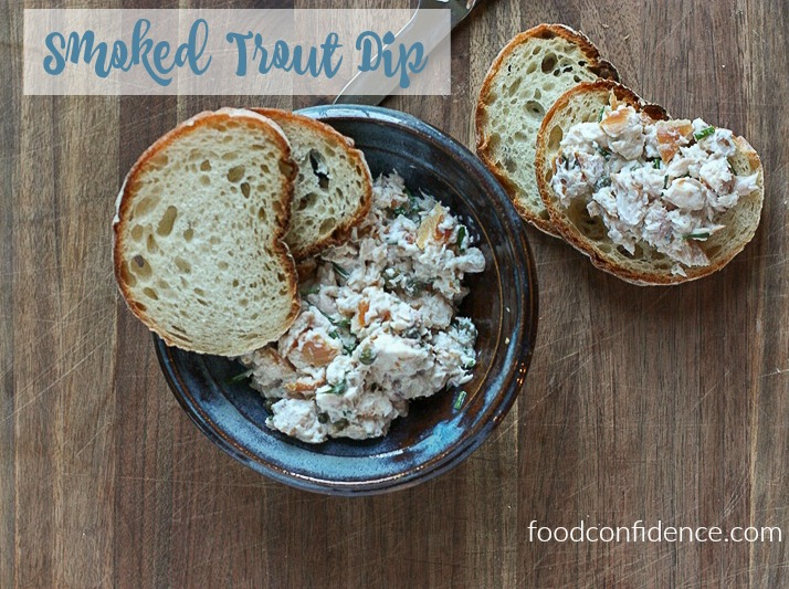 Bring this smoked trout dip appetizer to your next party!
