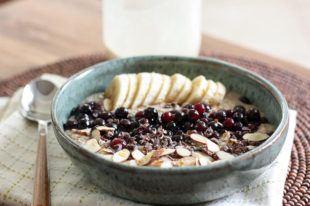 Almond Cardamon Buckwheat Breakfast bowl