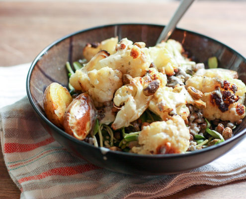 Roasted Cauliflower and Potato Salad