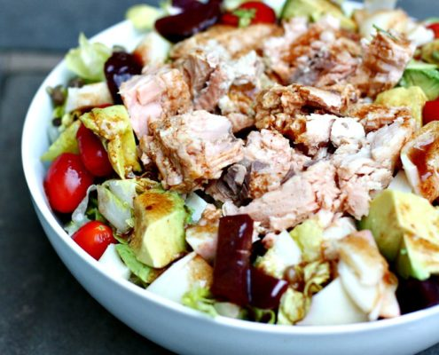 Simple canned salmon salad