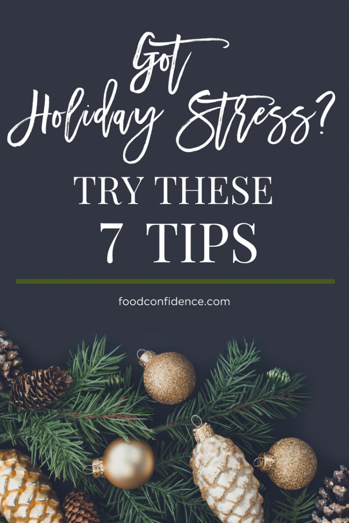 Beat the holiday blues (and stay healthy) with these stress reducing tips from a registered dietitian.