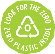 "look for this ""zero plastics inside"" label on your skincare products!"