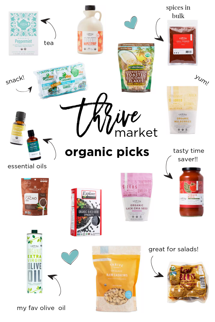 Thrive Market Best Organic Picks