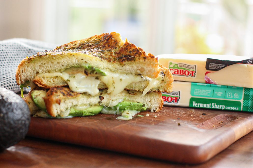Cabot Cheddar Cheese featured in Grilled Cheese sandwich