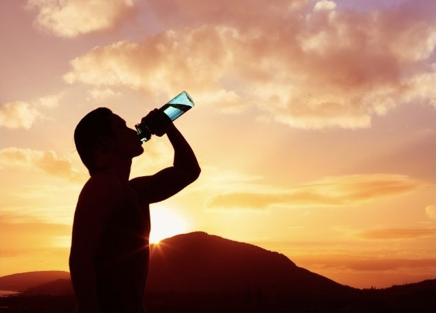 Person Staying Hydrated to Boost Immunity