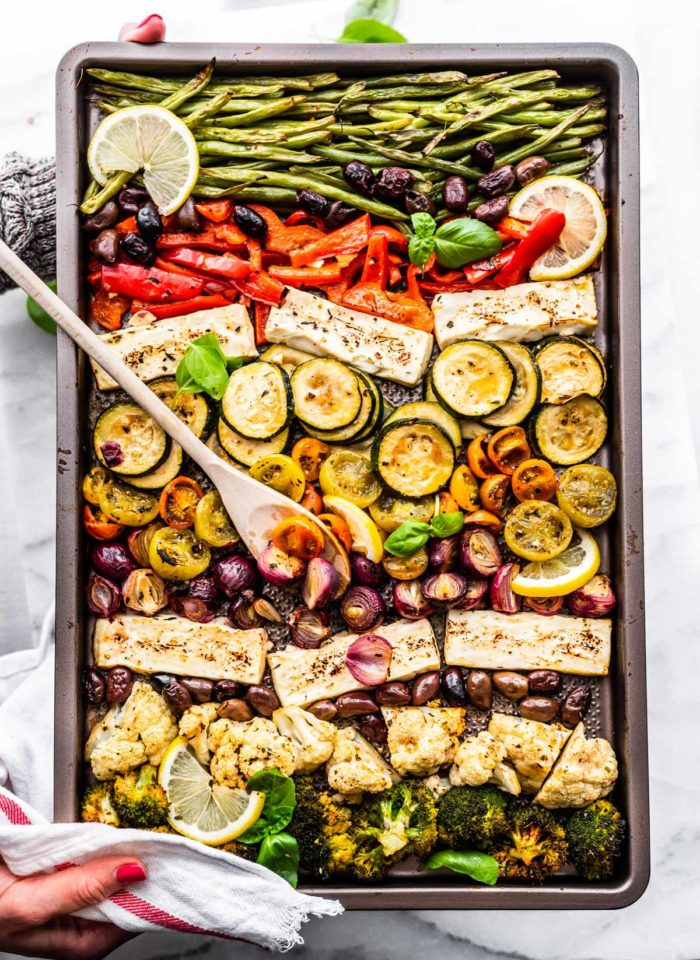 Greek Sheet Pan Roast Vegetables