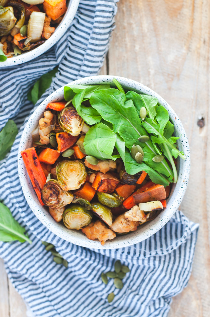 Roasted Fall Veggies and Tempeh