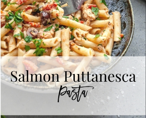 Salmon Puttanesca Blog Graphic