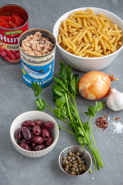 Salmon Puttanesca Ingredients